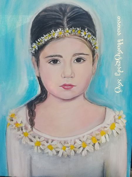 Baby Beautiful My Paintings Portrate Art Arts Culture And Entertainment Beautiful Woman Day Flower Front View Looking At Camera One Person Outdoors People Portrait Real People Young Adult