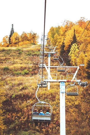 Waiting for snow... Ski Station Fall Fall Beauty Waiting Snow Hike Explore Mountain Range Landscape Sunlight Friends Friendship Chairlift Tree Sky Swing