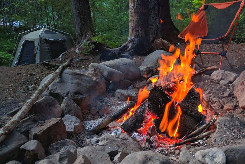 Heat - Temperature Flame Burning Outdoors No People Nature Fire Pit Camping Life Camping Camping Fire Warm Relaxing Time Chair Tent Camp Grounds Fire - Natural Phenomenon Night Close-up The Great Outdoors - 2017 EyeEm Awards