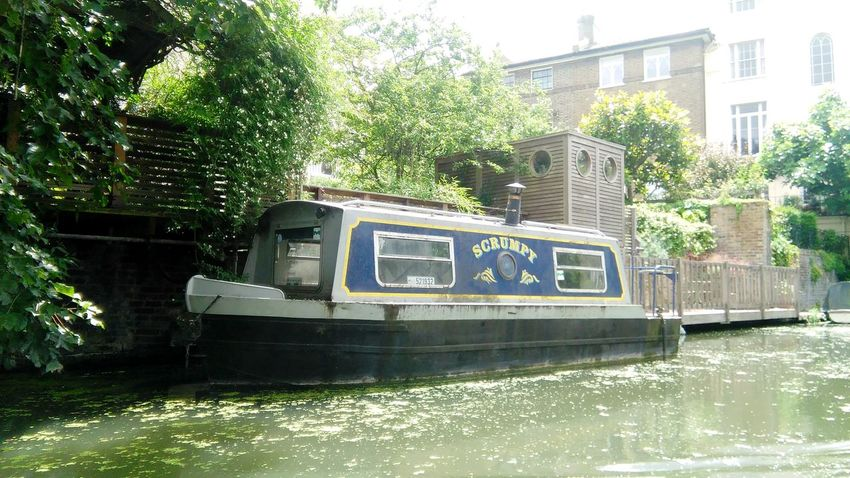 Water Day Outdoors Nature Little Venice London Camden Town Boathouse River Canal Green Quietness Beauty In Nature Lifestyles London Lifestyle London