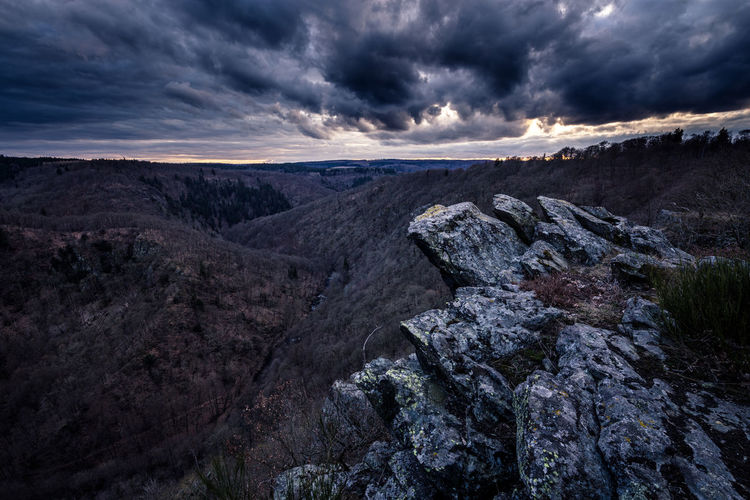 is this the end ? Cliff in harz mountains Beauty In Nature Bodetal Cliff Cloud - Sky Dark Day ExploreEverything Exploreharz Exploring Forest Germanroamers Germany Harz Landscape Mountain Nature Neverstopexploring  No People Outdoors Scenics Sky Sunset Tranquil Scene Tranquility