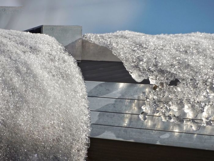 Ice on the roof gutter Winter Create Beauty Nature Photography Diamonds Ice Roof Cold Winter ❄⛄