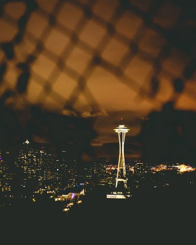 Night Illuminated No People Sky Seattle City Cityscape City Lights Space Needle Landscape