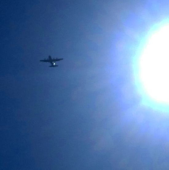 Flying Blue Airplane Journey Transportation Air Vehicle No People Outdoors Day Nature Sky