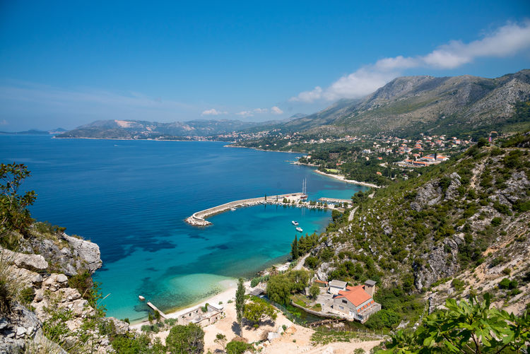 Croatia Croatian Coast Adriatic Adriatic Coast Adriatic Sea Aerial View Architecture Beach Beauty In Nature Blue Building Exterior Built Structure High Angle View Mountain Nature Nautical Vessel Outdoors Scenics Sea Sky Tranquility Travel Destinations Tree Water