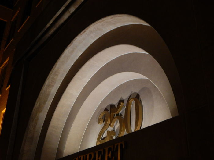 250 Arches Architecture Circle Concentric Numbers Shadows Underlights