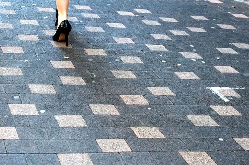Adult Canon Cobblestone Day High Heels Human Body Part Human Leg Low Section One Person Outdoors People Square Street Streetphotography Walking Woman Capture The Moment City