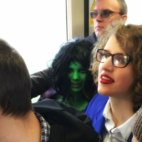 The Commute ... Halloween LONDON❤ DLR Young Adult Comiccon