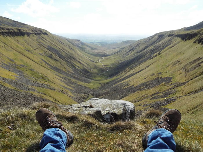 High Cup Nick Glacial Valley North Pennines Pennines Pennine Way Mountains And Hills Tranquility Tranquil Scene Non-urban Scene Non Urban Scene Enjoying Life English Countryside AONB Area Of Outstanding Natural Beauty Nature At Its Best High Cup Gill Green Grass Area That's Me Relaxing U Shaped Valley The Great Outdoors - 2016 EyeEm Awards Ice Age Finding New Frontiers Go Higher