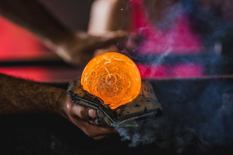 Art And Craft Close-up Day Expertise Flame Glass Glass Blowing Heat - Temperature Holding Human Body Part Human Hand Indoors  Manual Worker Men Metal Industry Molten Occupation One Person People Real People Skill  Working Workshop EyeEmNewHere