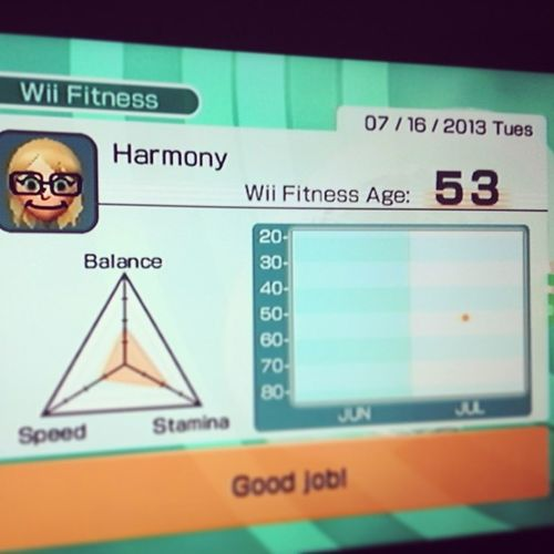 Oh, man.. I'm so unsporty! Wiifitness Wii Fitness Unathletic unsporty notinshape why videogame bad instafitness notfit instamood instapic follow harmony needtoworkout waytooold funny