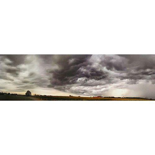 Clouds Landscape Storm Black Sky Cloudporn Rain German Wether Corn Field