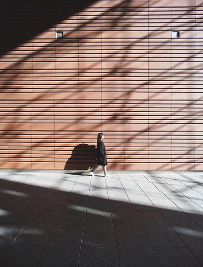 Bird perching on floor
