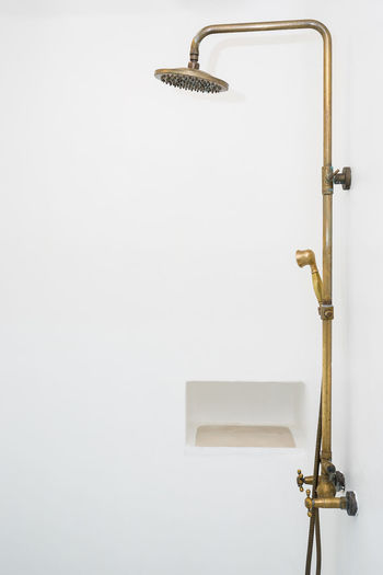 Accessibility Bathroom Close-up Copy Space Cut Out Furniture Handle Hanging Home Interior Hook Indoors  Metal No People Silver Colored Single Object Still Life Studio Shot Wall - Building Feature White Background White Color Wood - Material