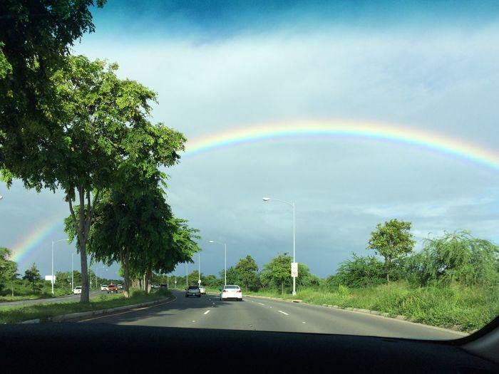 On my way home in Ewa Beach Hawaii. Hawaiianrainbow Little Things Oh The Joy It Brings Hawaii Skies