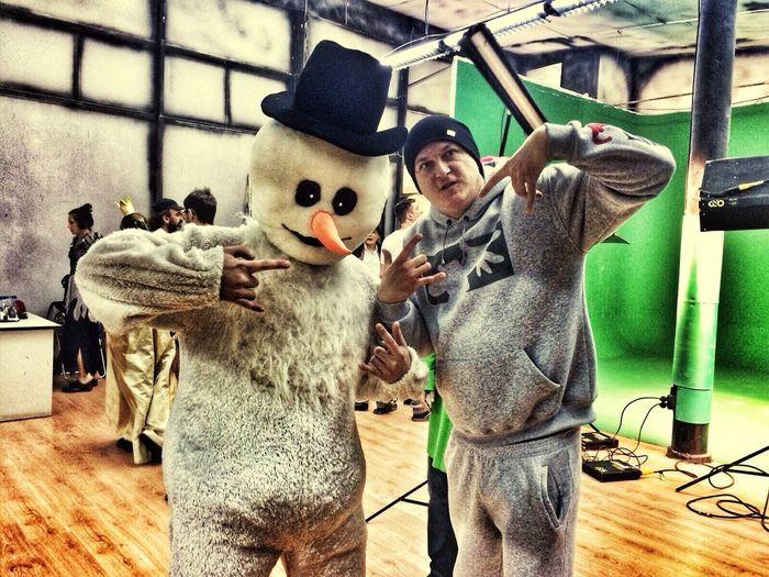Snowman Filming SnowGungstarWTFshit WTF