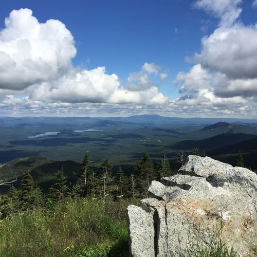 Lake Placid Adirondack Mountains Whiteface Mountain View Sky Clouds Scenics Tranquility Cloud - Sky Nature Day Tranquil Scene Landscape Mountain Outdoors Physical Geography Beauty In Nature No People
