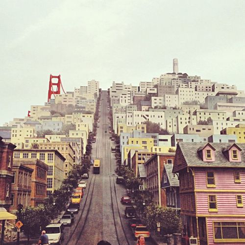 I left my heart in SF. DisneyWorld Sanfrancisco Painting Art Favorite Culture Steep Hill Travel
