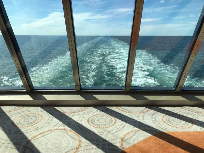 Day Shadow No People Sunlight Sky Indoors  Nature Water Geometry Mein Schiff 3 Horizon Over Water From My Point Of View