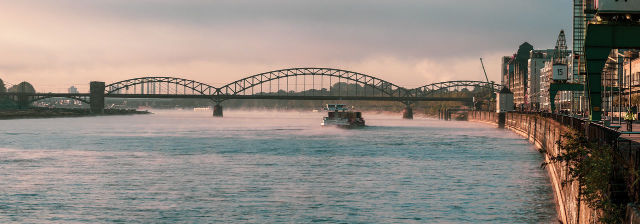 Cologne Cologne , Köln,  Panoramashot Bridge Bridge - Man Made Structure City River Sunset Transportation Travel Destinations Water