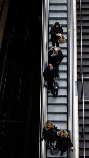 Up Close Street Photography Berlin Stationen Station People Stairs Shadow Shadows & Lights Up View Ehi Look At Me Im Up There Lookingup Heads