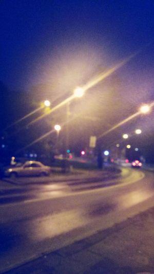 Night Illuminated Car Transportation Street Mode Of Transport Street Light Road Blurred Motion Outdoors No People City Sky