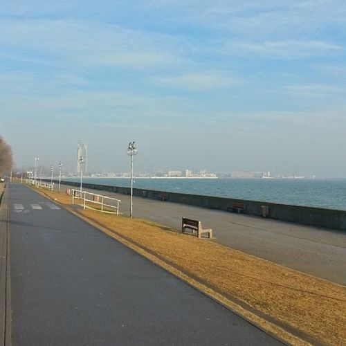 Gdynia Boulevard Morning Sea baltic spring green nofilter seatowers waterfront
