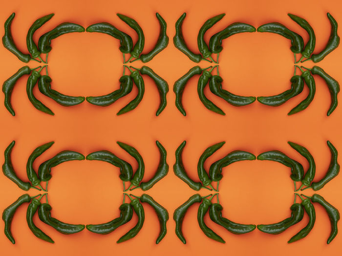 Full Frame Pattern Backgrounds No People Indoors  Close-up Design Orange Color Shape Food And Drink Wall - Building Feature Still Life Creativity Green Color Art And Craft Red Yellow Food Repetition Healthy Eating Floral Pattern
