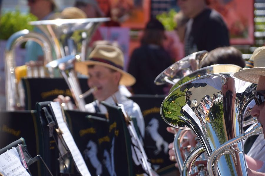 Brass band Brass Band Brass Instrument  EyeEm Selects Musical Instrument Focus On Foreground Arts Culture And Entertainment Music Incidental People Close-up Drum - Percussion Instrument Musical Equipment Outdoors Wind Instrument Group Of People Selective Focus