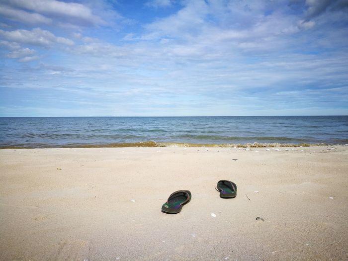 Footwear On Beach