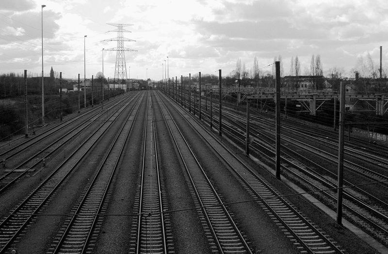 Brussels Day Landscape No People Outdoors Railroad Track Sky Transportation Vanishing Lines