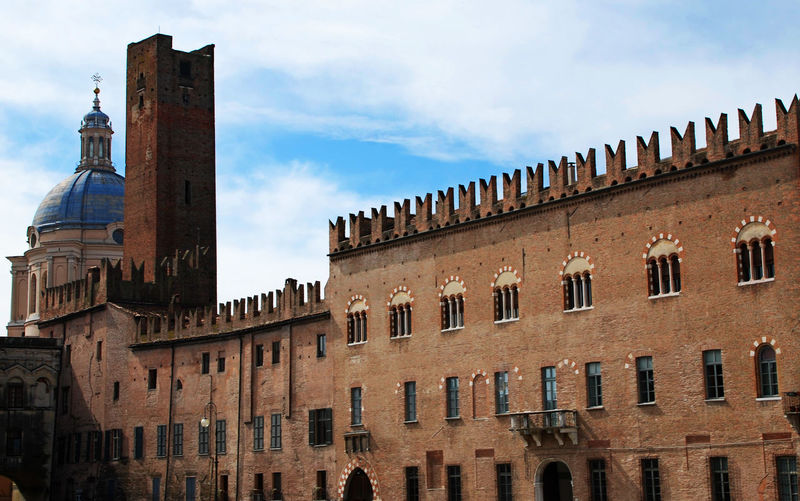 Piazza Sordello in Mantova Architecture Building Exterior Built Structure Sky Building The Past History Low Angle View Cloud - Sky Day No People Travel Destinations Tower Old City Outdoors Travel Window Tourism Mantova Mantua Italy Piazza Sordello, Mantova Piazza Sordello