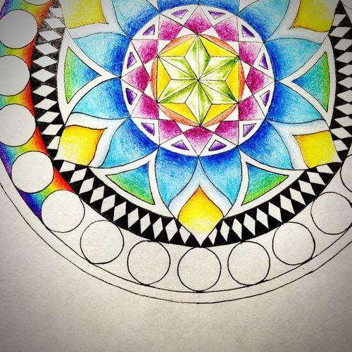 Draft YohkoAmaterraArt Art Colors Mandala 曼荼羅 Rainbow Mandalas My Art Work Create