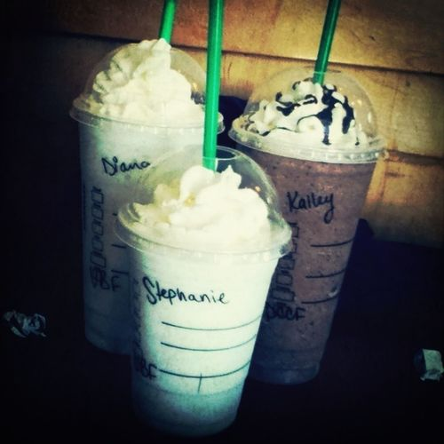 Went To Strabucks With My Baby's :* Deanna & Kaylee ♥