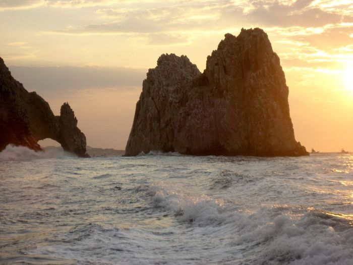 Beautiful Cabo Sunset Arches, ArchesCabo CaboMexico Mexico Beauty In Nature Crashingwaves Day Nature No People Outdoors Scenery Scenics Sea Sky Sunset Tranquility Water Waterfront