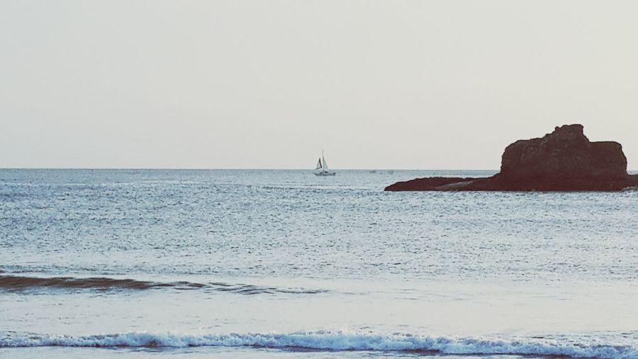 Sailing on Playa Marsella Bay