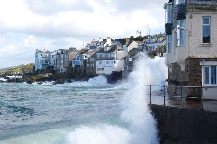 Coast Path Cornwall Uk Water Sea Built Structure Architecture Building Exterior Motion Sky Cloud - Sky Power Power In Nature Wave Nature Beauty In Nature No People Building Day Splashing Aquatic Sport Outdoors Breaking Hitting Flowing Water St. Ives Cornwall