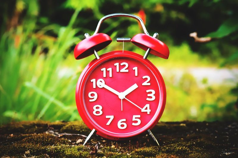 red alarm clock Clock Hand Clock Red Alarm Clock Red Alarm Red Clock Time Number Alarm Clock Red No People Communication Minute Hand