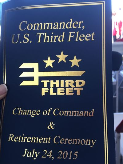 So honored to be present for Change of Command for Vice Admiral Nora Tyson United States Navy