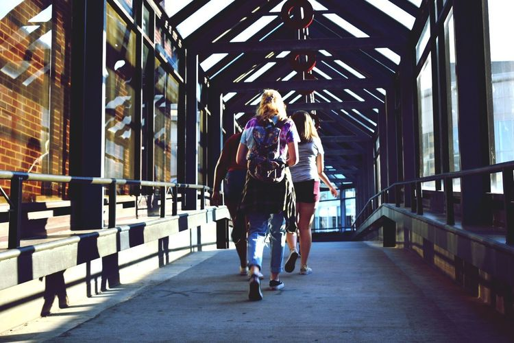 Bridge - Man Made Structure Running Two People Lifestyles Full Length Jogging Real People Day Connection Exercising Healthy Lifestyle Walking Sports Clothing Togetherness Wellbeing Young Adult Women Built Structure Footbridge Young Women EyeEmNewHere