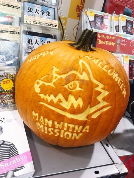 Happyhalloween Food Paper Food And Drink Pumpkin No People Indoors  Paper Currency Halloween Day Anthropomorphic Face Close-up MWAM MAN WITH A MISSION