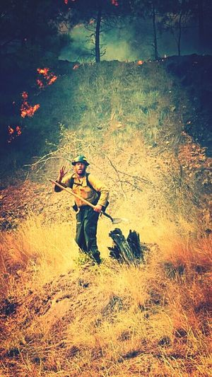 Wildlandfirefighter MyLove❤ Wildlandfire Myoneandonly Loveofmylife:) Hesmine Hessilly Okanagan Washington Protecting Where We Play