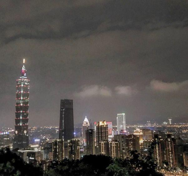 Taiwan Mountain Night View