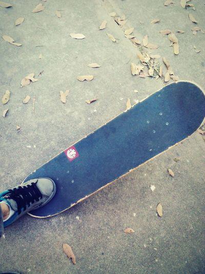! Feet Skateboarding Street Photography Floor Leaves Element