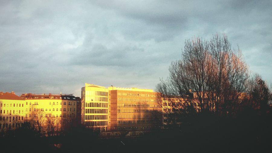 Berlin Sunset Sunset Berlin Urban Landscape Urbanphotography Achitecture Dark Clouds Clouds Clouds And Sky