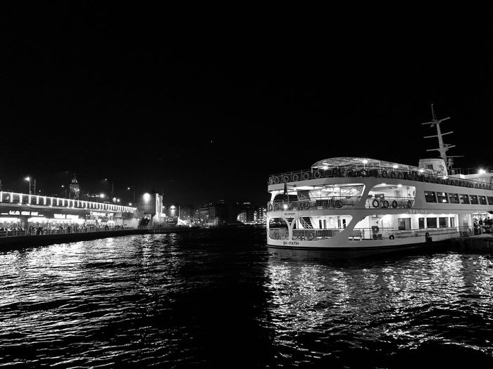Building Exterior Architecture Water Built Structure Night Nautical Vessel Waterfront Transportation Mode Of Transportation Illuminated City Nature Clear Sky Reflection River No People Copy Space Outdoors Passenger Craft Sky