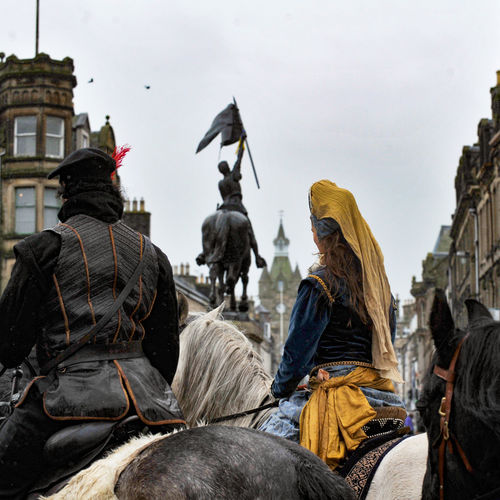 Animal Representation Borders History Colour Costume Historical Re Enactment Horses Reivers Festival Sculpture Statue
