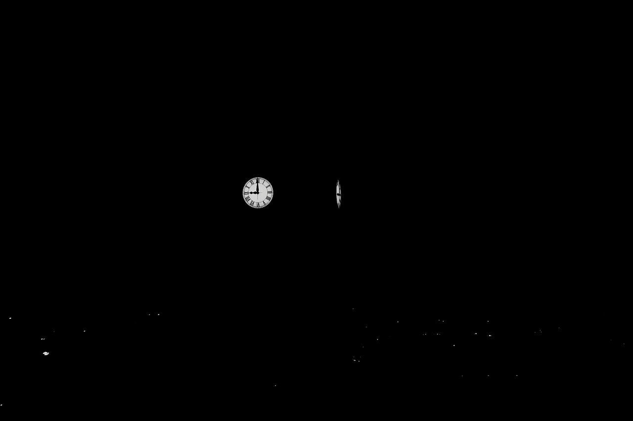 night, copy space, dark, illuminated, no people, nature, moon, beauty in nature, indoors, black background, clock, astronomy