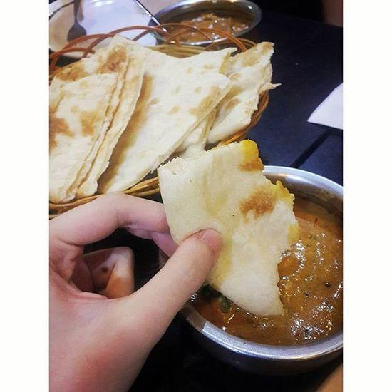 第一次去印度餐廳用手食咖哩😋FirstTime Currychicken Indiancuisine