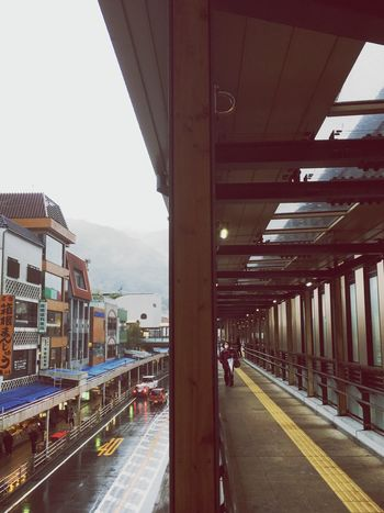 EyeEmNewHere Peace Japan Good Times Mountain Relax Day Load High Street Rain Sky A Hotel Station